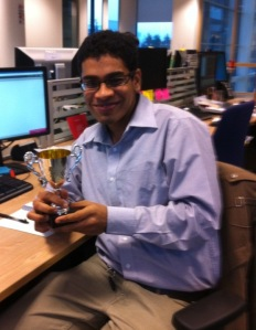Chirayu wins the Best Code Improvement Award