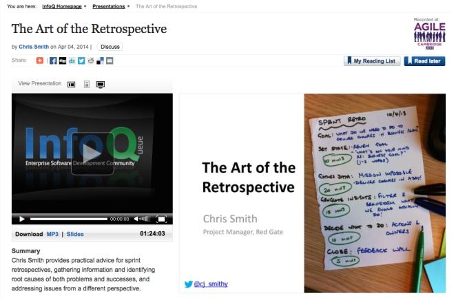 The Art of the Retrospective from Agile Cambridge 2013